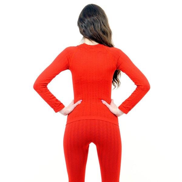 Термо блуза марка KSPORT дамски модел червен цвят - снимка 4