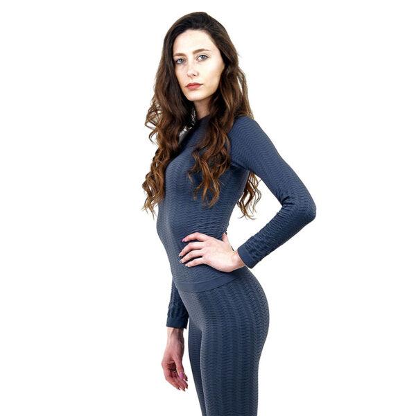 Термо блуза марка KSPORT дамски модел сив цвят - снимка 1