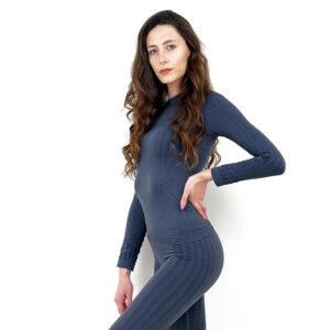 Термо блуза марка KSPORT дамски модел сив цвят - снимка 2