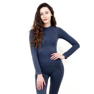 Термо блуза марка KSPORT дамски модел сив цвят - снимка 3
