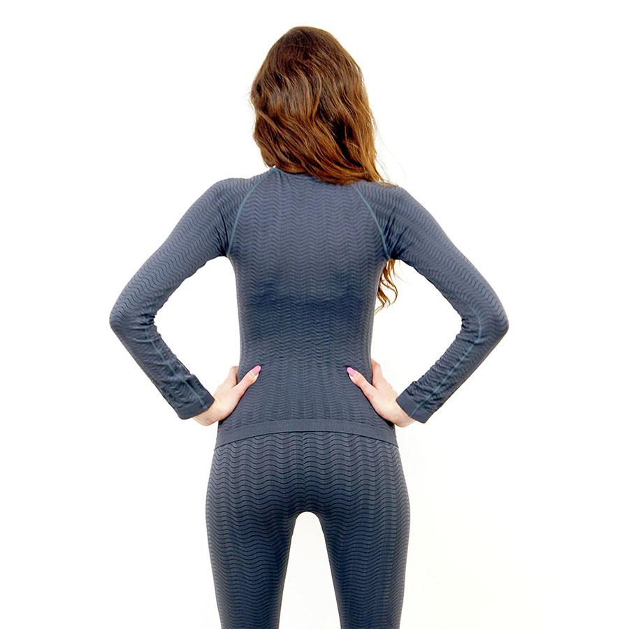 Термо блуза марка KSPORT дамски модел сив цвят - снимка 4