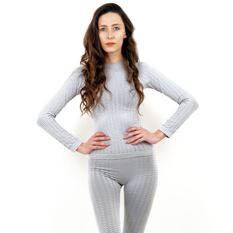 Термо блуза марка KSPORT дамски модел светлосив цвят - снимка 1