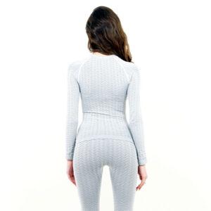 Термо блуза марка KSPORT дамски модел светлосив цвят - снимка 4