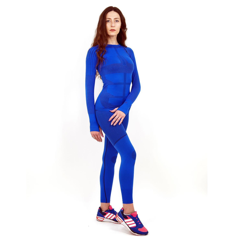 Термо комплект дамски марка KSPORT серия KPROTERM син цвят - снимка 1
