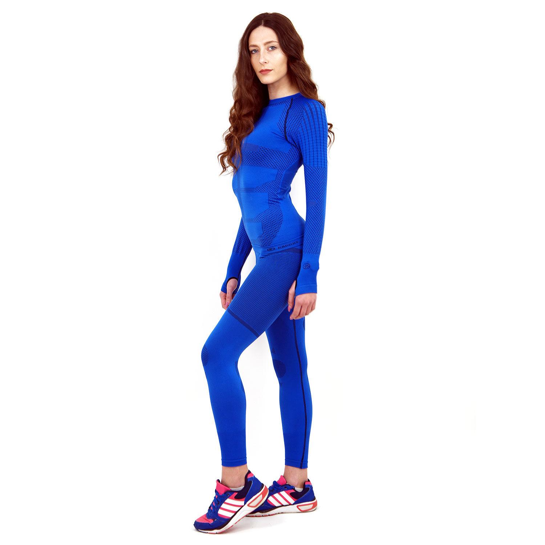 Термо комплект дамски марка KSPORT серия KPROTERM син цвят - снимка 2