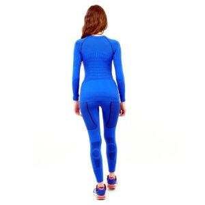 Термо комплект дамски марка KSPORT серия KPROTERM син цвят - снимка 3