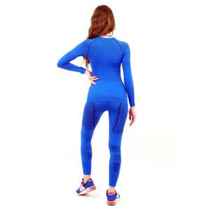 Термо комплект дамски марка KSPORT серия KPROTERM син цвят - снимка 4