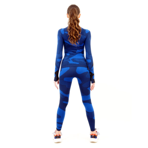 Термо клин дамски марка KSPORT цвят тъмносин камуфлаж - снимка 2