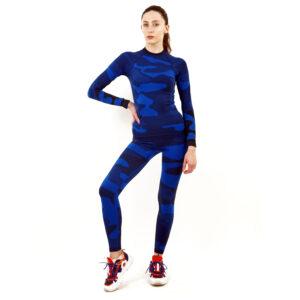 Термо клин дамски марка KSPORT цвят тъмносин камуфлаж - снимка 3