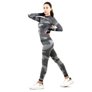 Термо клин марка KSPORT дамски цвят сив камуфлаж - снимка 1