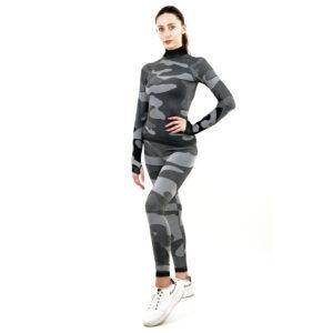 Термо клин марка KSPORT дамски цвят сив камуфлаж - снимка 3