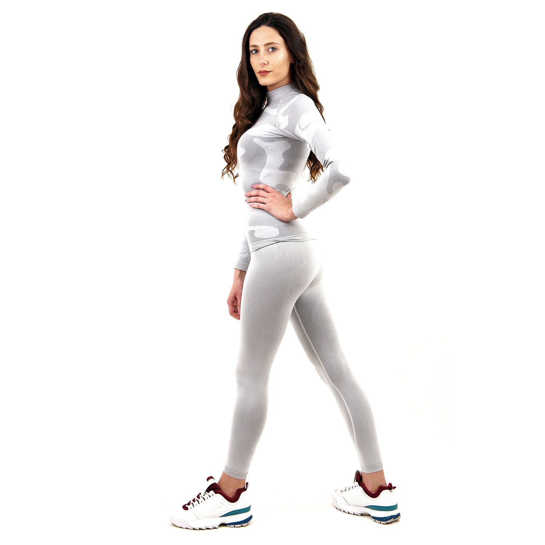 Термо клин марка KSPORT дамски цвят светлосиво комо - снимка 1