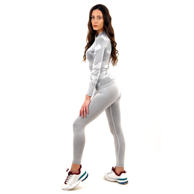 Термо клин марка KSPORT дамски цвят светлосиво комо - снимка 2