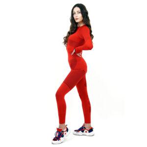 Термо комплект дамски марка KSPORT серия KPROTERM червен цвят - снимка 3