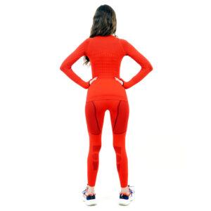 Термо комплект дамски марка KSPORT серия KPROTERM червен цвят - снимка 4