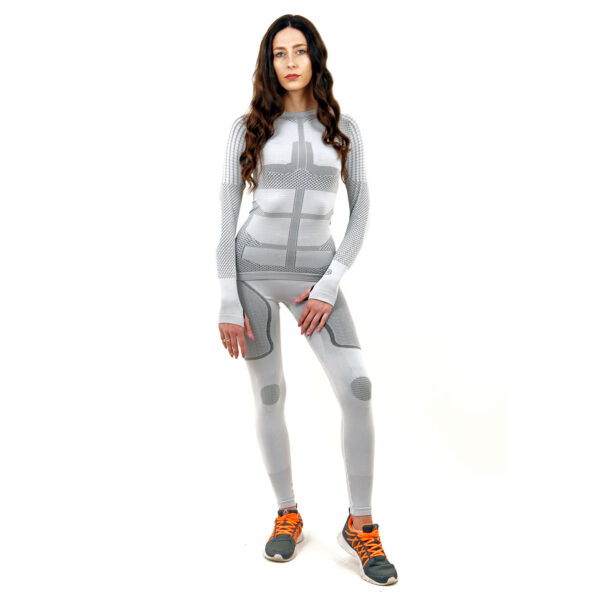 Термо комплект дамски марка KSPORT серия KPROTERM цвят светло сив - снимка 2