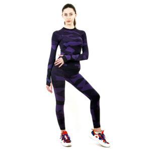 Термо комплект дамски марка KSPORT в цвят лилав комуфлаж - снимка 2