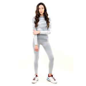 Термо комплект дамски марка KSPORT цвят светлосив камуфлаж - снимка 1