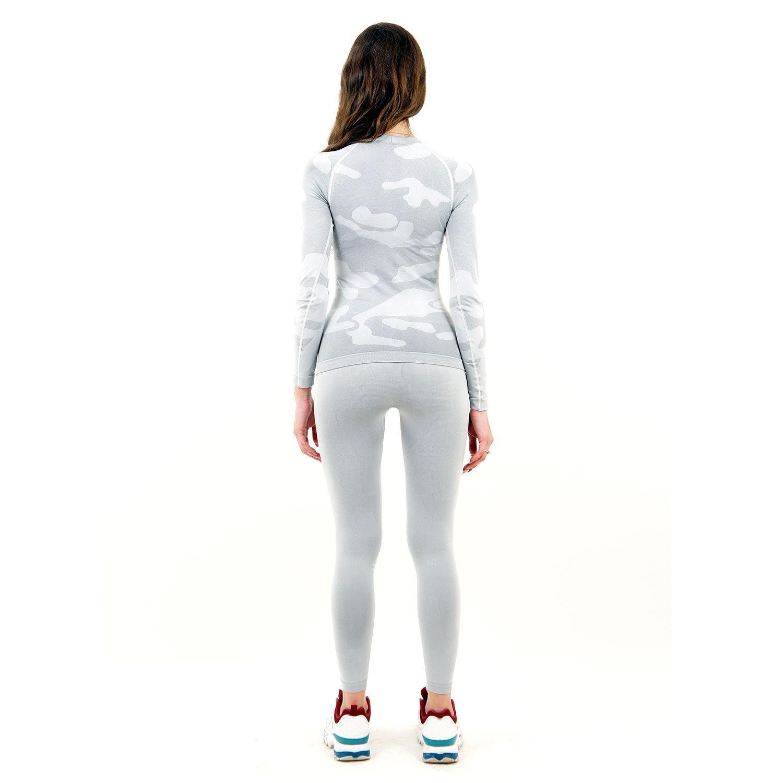 Термо комплект дамски марка KSPORT цвят светлосив камуфлаж - снимка 4