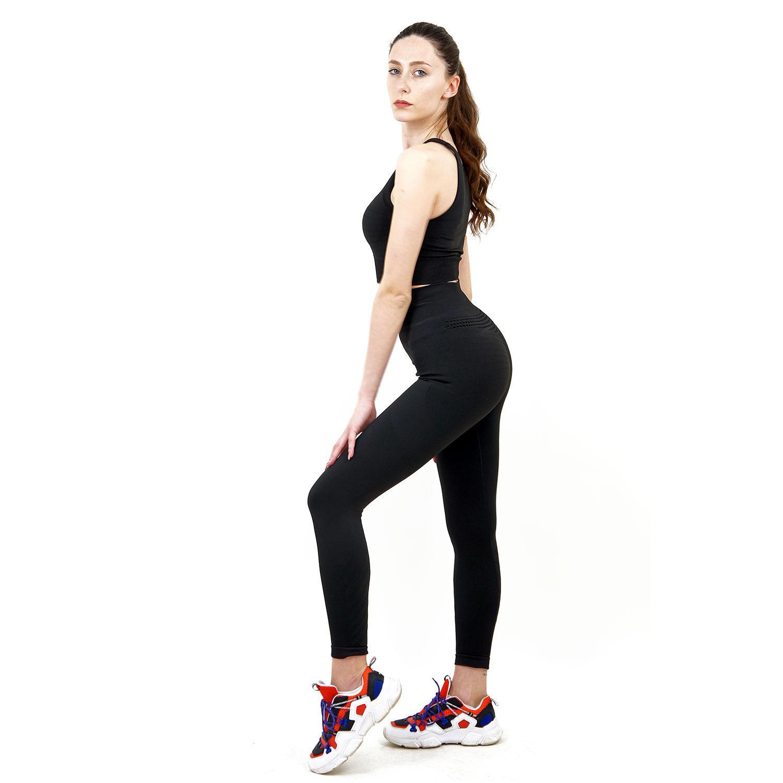 Термо комплект дамски KSPORT серия KFIT бюстие с клин черен цвят - снимка 2