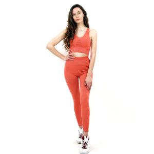 Термо комплект дамски KSPORT серия KFIT бюстие с клин розово - снимка 3