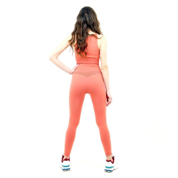 Термо комплект дамски KSPORT серия KFIT бюстие с клин розово - снимка 4