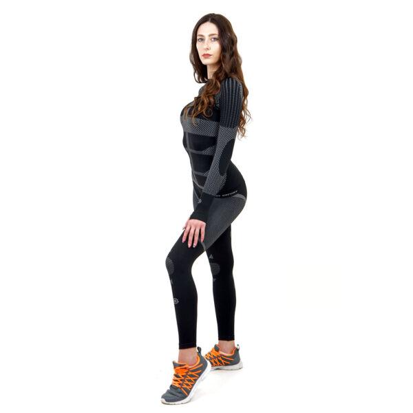 Термо комплект дамски KSPORT серия KPROTERM черен - снимка 3