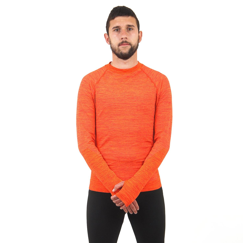 Мъжка термо блуза марка KSPORT оранжев цвят - снимка 1