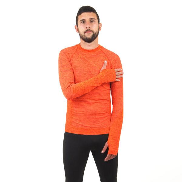 Мъжка термо блуза марка KSPORT оранжев цвят - снимка 2