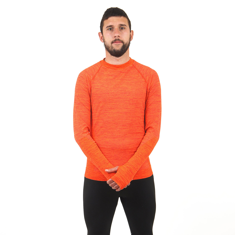 Мъжка термо блуза марка KSPORT оранжев цвят - снимка 4