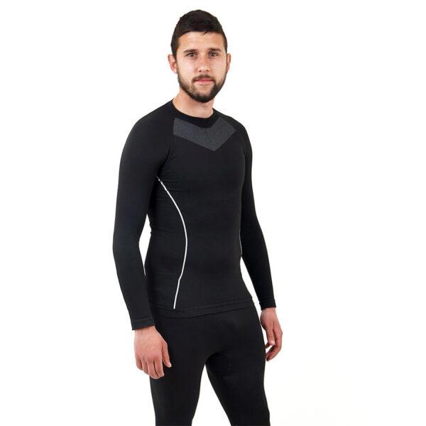 Термо мъжкa блуза марка KSPORT черен цвят - снимка 3