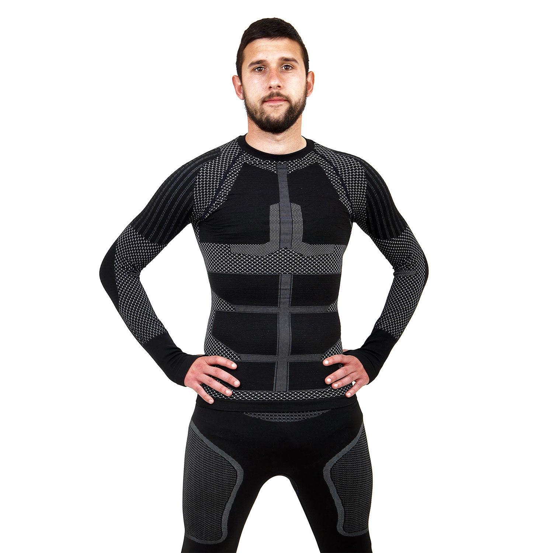 Термо блуза мъжка марка KSPORT серия KPROTERM черен цвят - снимка 1