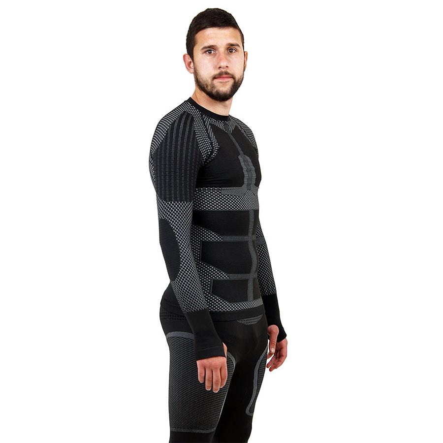 Термо блуза мъжка марка KSPORT серия KPROTERM черен цвят - снимка 3