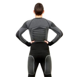 Термо блуза мъжка марка KSPORT серия KPROTERM черен цвят - снимка 4