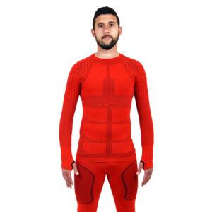 Термо блуза мъжка марка KSPORT серия KPROTERM червен цвят - снимка 1