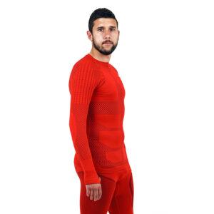Термо блуза мъжка марка KSPORT серия KPROTERM червен цвят - снимка 3