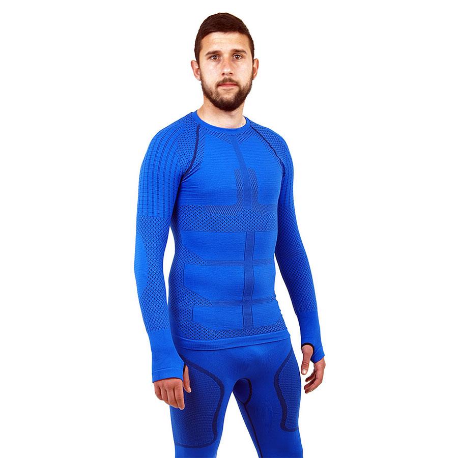 Термо блуза мъжка марка KSPORT серия KPROTERM син цвят - снимка 1