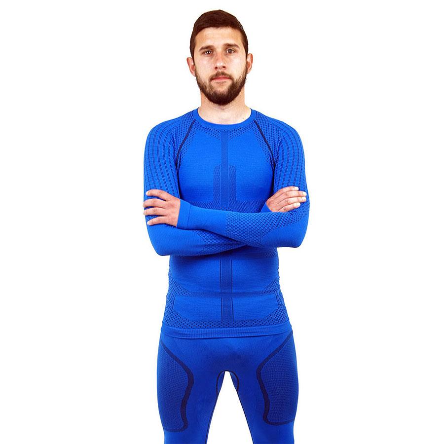Термо блуза мъжка марка KSPORT серия KPROTERM син цвят - снимка 2