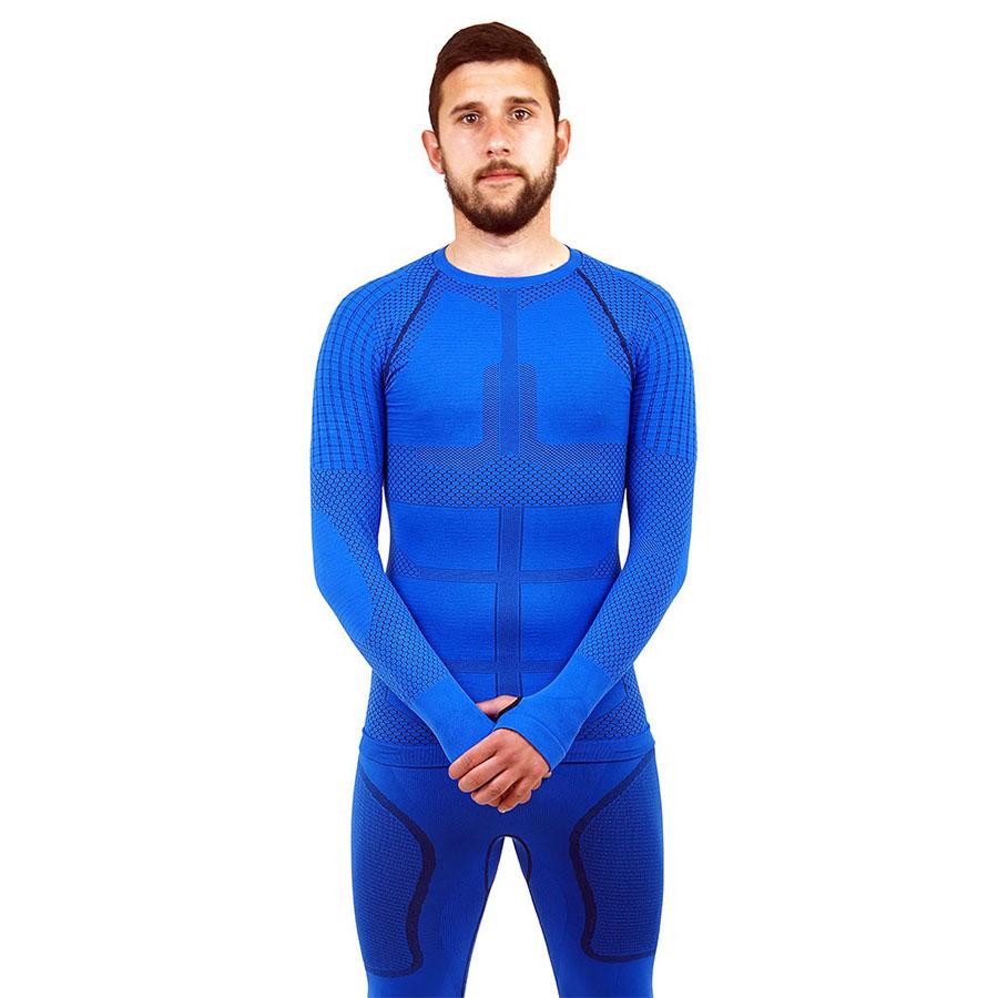 Термо блуза мъжка марка KSPORT серия KPROTERM син цвят - снимка 3