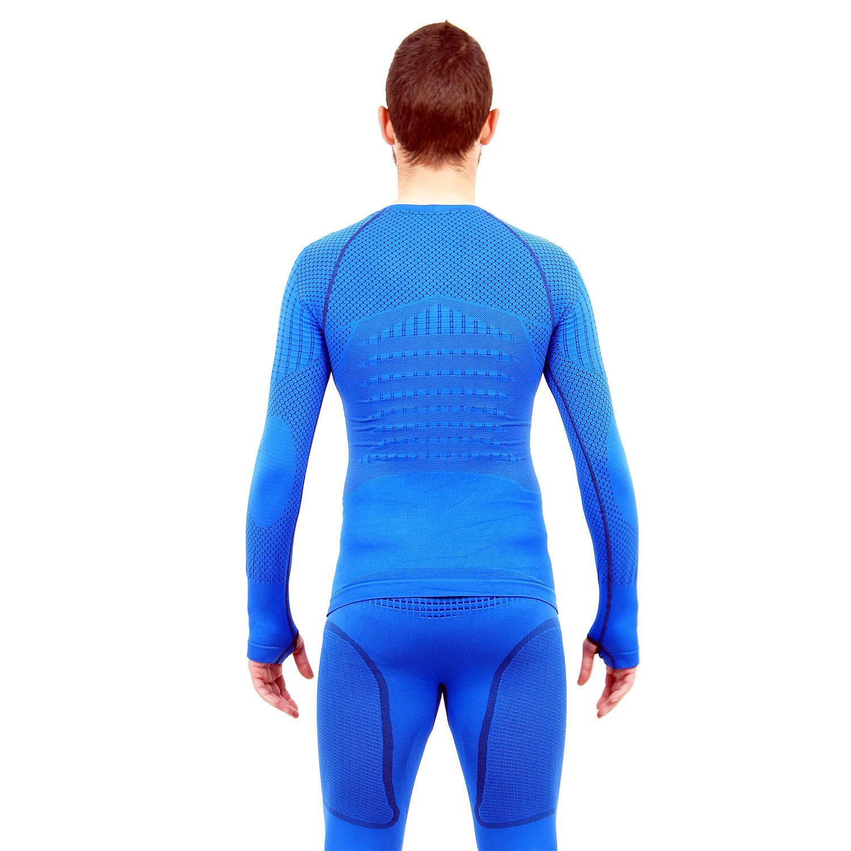 Термо блуза мъжка марка KSPORT серия KPROTERM син цвят - снимка 4