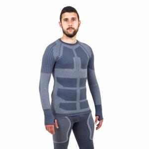 Термо блуза мъжка марка KSPORT серия KPROTERM сив цвят - снимка 1