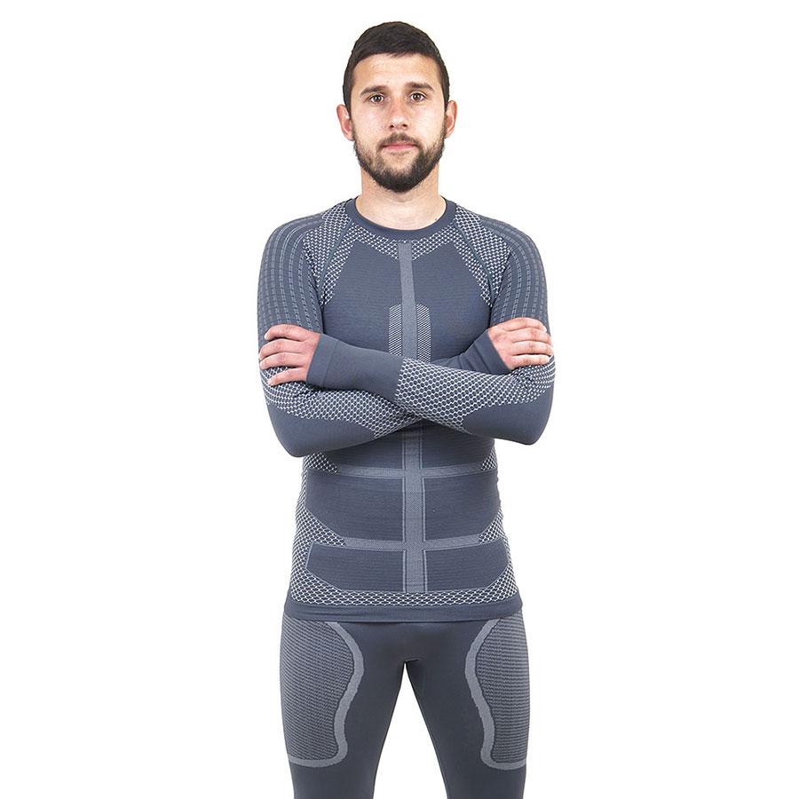 Термо блуза мъжка марка KSPORT серия KPROTERM сив цвят - снимка 2