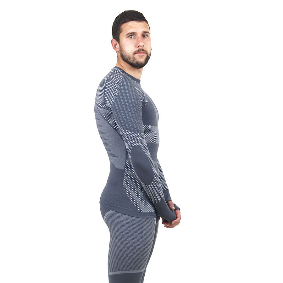 Термо блуза мъжка марка KSPORT серия KPROTERM сив цвят - снимка 3