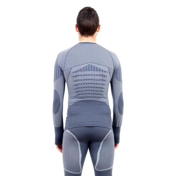 Термо блуза мъжка марка KSPORT серия KPROTERM сив цвят - снимка 4