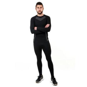 Термо бельо - мъжки клин марка KSPORT черен цвят - снимка 1