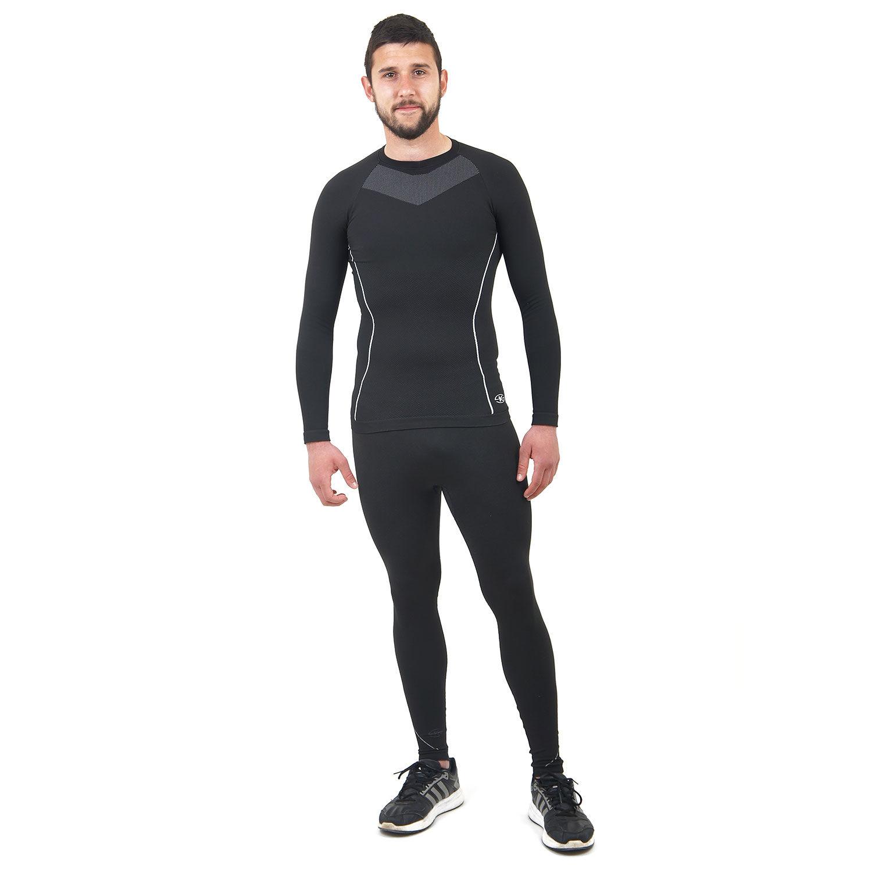 Термо бельо марка KSPORT мъжки комплект черен цвят - снимка 1