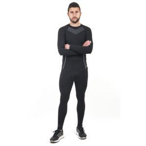 Термо бельо марка KSPORT мъжки комплект черен цвят - снимка 2