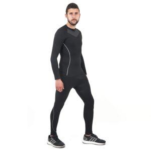 Термо бельо марка KSPORT мъжки комплект черен цвят - снимка 4
