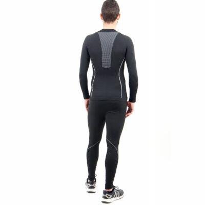 Термо бельо марка KSPORT мъжки комплект черен цвят - снимка 5