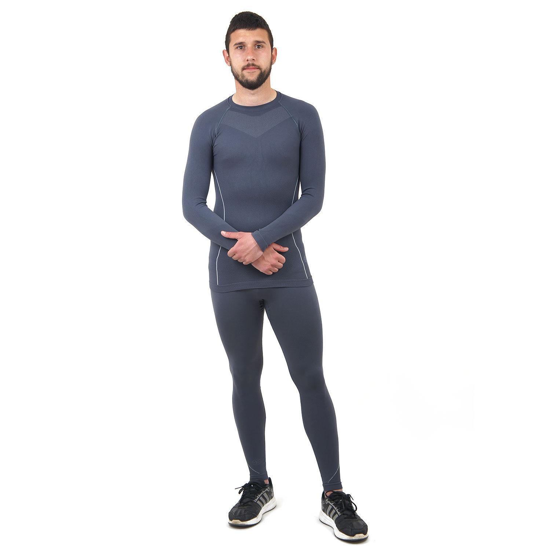 Термо бельо марка KSPORT мъжки комплект сив цвят - снимка 1